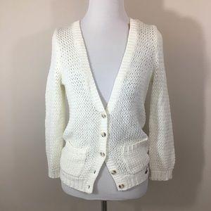 Hollister Crochet Stitch Cream Sweater, Small NWT